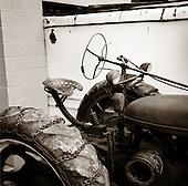 Quecreek, Pennsylvania.July 8, 2003..Ancient tractor....