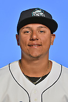 Asheville Tourists outfielder Jonathan Daza (2) poses for a photo at Story Point Media on April 5, 2016 in Asheville, North Carolina. (Tony Farlow/Four Seam Images)