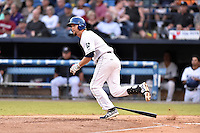 Asheville Tourists designated hitter Chris Keck (6) swings at a pitch during a game against the Hagerstown Suns at McCormick Field on September 4, 2016 in Asheville, North Carolina. The Suns defeated the Tourists 10-5. (Tony Farlow/Four Seam Images)