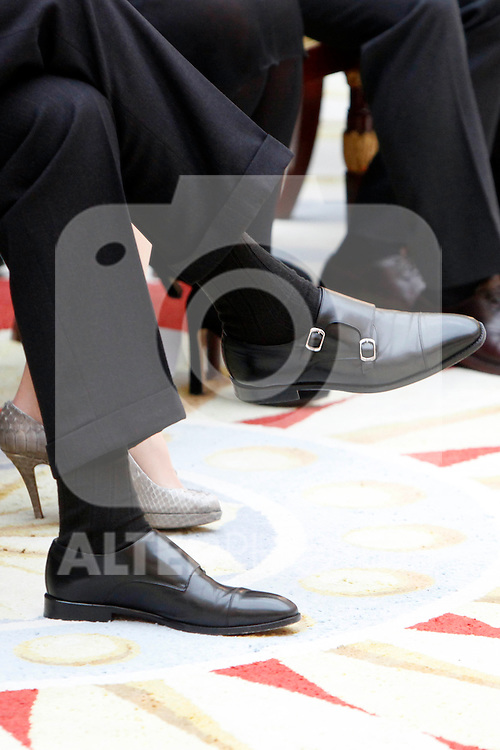 Prince Felipe of Spain attend the National Awards of Culture 2011 and 2012 at Palacio de El Pardo. February 19, 2013. (ALTERPHOTOS/Caro Marin)