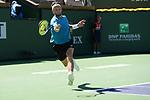 Casper Ruud (NOR) is defeated by Diego Schwartzman (ARG) 3-6, 3-6, at the BNP Paribas Open being played at Indian Wells Tennis Garden in Indian Wells, California on October 13,2021: ©Karla Kinne/Tennisclix/CSM