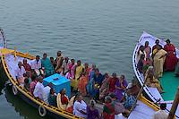 Boats at the River Ganges Varanasi India