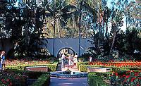 San Diego: Balboa Park Garden.   (Photo 1978)