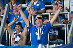 FC Luzern v St Johnstone...17.07.14  Europa League 2nd Round Qualifier<br /> Saints fans celebrate at full time<br /> Picture by Graeme Hart.<br /> Copyright Perthshire Picture Agency<br /> Tel: 01738 623350  Mobile: 07990 594431