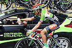 Ahmet Orken (TUR) Torku Sekerspor at the team car during Stage 6 of the 2015 Presidential Tour of Turkey running 184km from Denizli to Selcuk. 30th April 2015.<br /> Photo: Tour of Turkey/Mario Stiehl/www.newsfile.ie