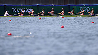 20th July 2021, TOKYO, JAPAN:  Members of Chinese womens eight rowing team attend a training session ahead of the Tokyo 2020 Olympic Games at the Sea Forest Waterway in Tokyo