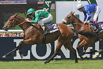 Valyra (no 2 ), ridden by JP. Murtagh and trained by JC. Rouget, wins the 163 th running of the group 1 Prix de Diane Longines for three year olds on June 17, 2012 at Chantilly Racecourse in Chantilly, France. (Jean-Philippe Debargue/Eclipse Sportswire)