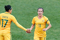 June 4, 2016: Lisa de Vanna is substituted off during an international friendly match between the Australian Matildas and the New Zealand Football Ferns as part of the teams' preparation for the Rio Olympic Games at Morshead Park in Ballarat. Photo Sydney Low