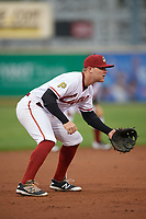 Altoona Curve third baseman Chase Simpson (7) during a game against the New Hampshire Fisher Cats on May 11, 2017 at Peoples Natural Gas Field in Altoona, Pennsylvania.  Altoona defeated New Hampshire 4-3.  (Mike Janes/Four Seam Images)