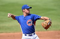 Ryan Karstetter (29) of Port Matilda, Pennslyvania and IMG Academy in Bradenton, Florida playing for the Chicago Cubs scout team during the East Coast Pro Showcase on August 1, 2014 at NBT Bank Stadium in Syracuse, New York.  (Mike Janes/Four Seam Images)