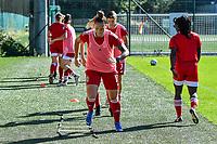 Standard Coutereels Maud (17) before a women soccer match between Standard Femina de Liege and Eendracht Aalst dames, Saturday 25 September 2021 in Liege, in the 1/16 th final of the Belgian Womens Cup 2021-2022. PHOTO BERNARD GILLET