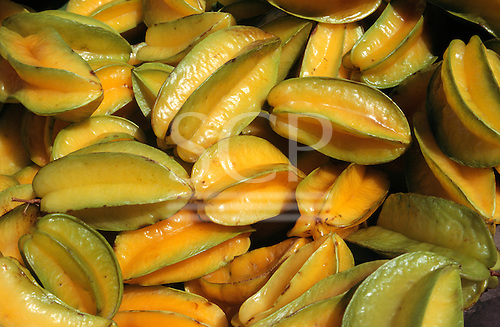 Altamira, Brazil. Star fruit (Averrhoa carambola) (carambola).