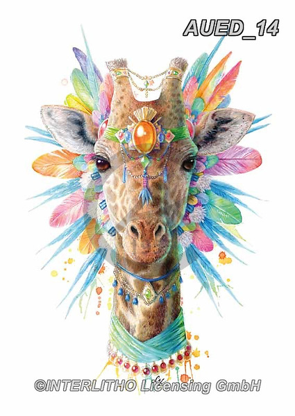 Carlie, REALISTIC ANIMALS, REALISTISCHE TIERE, ANIMALES REALISTICOS, paintings+++++Giraffe-Spirit-Animal,AUED14,#A#, EVERYDAY ,fantasy