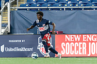 FOXBOROUGH, MA - AUGUST 7: Meny Silva #36 of New England Revolution II brings the ball forward during a game between Orlando City B and New England Revolution II at Gillette Stadium on August 7, 2020 in Foxborough, Massachusetts.