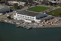 aerial photograph of the Hall of Transportation, Building 2, Treasure Island, San Francisco, California