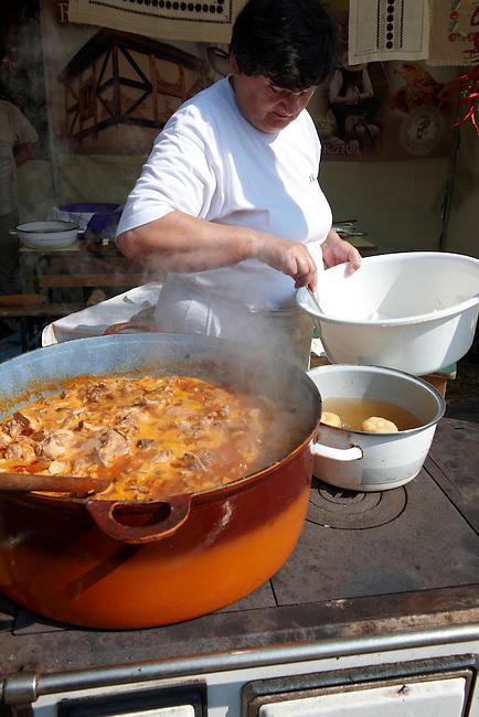 Porkolt. Paprika food festival, Kalocsa. Hungary