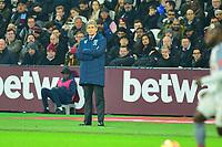 West Ham Manager Manuel Pellegrini  during West Ham United vs Liverpool, Premier League Football at The London Stadium on 4th February 2019