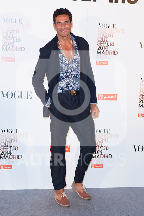 """Oscar Higares attends the """"VOGUE FASHION NIGHT OUT"""" Photocall at Jose Ortega y Gaset street in Madrid, Spain. September 18, 2014. (ALTERPHOTOS/Carlos Dafonte)"""