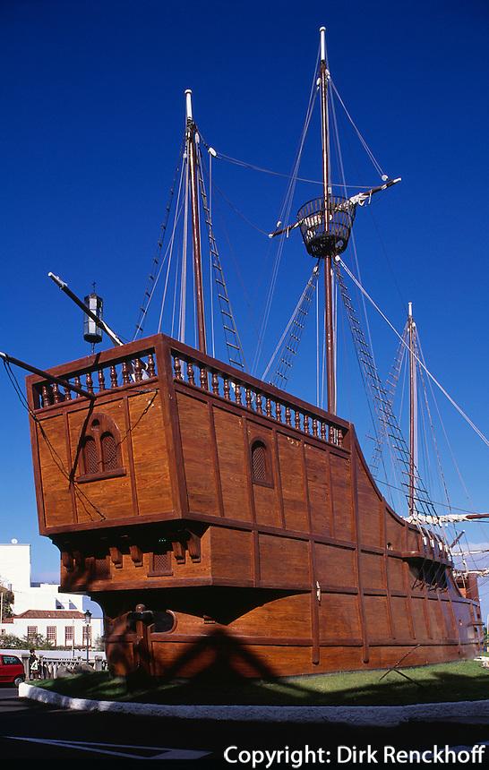 Schiff des Columbus S.Maria im Museo Navale, Santa Cruz, La Palma, Kanarische Inseln, Spanien