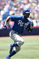 May 25th 2008:  Second baseman Esteban German (3) of the Kansas City Royals during a game at the Rogers Centre in Toronto, Ontario, Canada .  Photo by:  Mike Janes/Four Seam Images