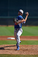 Los Angeles Dodgers pitcher Ivan Vieitez (70) during an instructional league game against the Milwaukee Brewers on October 13, 2015 at Cameblack Ranch in Glendale, Arizona.  (Mike Janes/Four Seam Images)