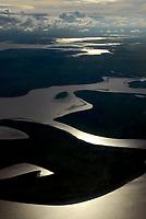 Baixo Amazonas, poucos minutos após decolar de Santarém em direção a cidade de Belém.