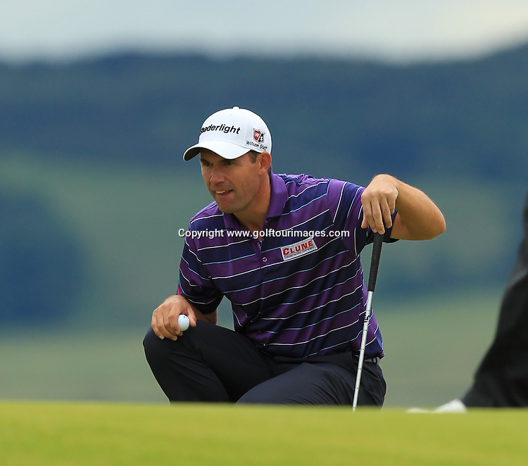 Padraig Harrington during the 2012 Aberdeen Asset Management Scottish Open being played over the links at Castle Stuart, Inverness, Scotland from 12th to 14th July 2012:  Stuart Adams www.golftourimages.com:12th July 2012