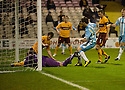 14/12/2010   Copyright  Pic : James Stewart.sct_jsp002_motherwell_v_hearts  .::  MARK REYNOLDS AND DARREN RANDOLPH KNOCK DAVID TEMPLETON'S OVERHEAD KICK INTO THE NET FOR HEARTS FIRST  ::.James Stewart Photography 19 Carronlea Drive, Falkirk. FK2 8DN      Vat Reg No. 607 6932 25.Telephone      : +44 (0)1324 570291 .Mobile              : +44 (0)7721 416997.E-mail  :  jim@jspa.co.uk.If you require further information then contact Jim Stewart on any of the numbers above.........