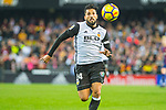 Ezequiel Garay of Valencia CF runs with the ball during the La Liga 2017-18 match between Valencia CF and FC Barcelona at Estadio de Mestalla on November 26 2017 in Valencia, Spain. Photo by Maria Jose Segovia Carmona / Power Sport Images