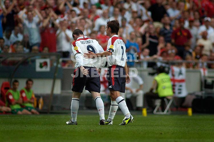 portugal - engeland Europees kampioenschap 2004 Portugal seizoen 2003-2004 23-06-2004  Rooney verlaat geblesserd het veld