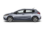 Car Driver side profile view of a 2018 KIA Forte5 SX 5 Door Hatchback Side View