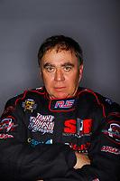Feb 8, 2018; Pomona, CA, USA; NHRA top fuel driver Scott Palmer poses for a portrait during media day at Auto Club Raceway at Pomona. Mandatory Credit: Mark J. Rebilas-USA TODAY Sports