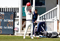 Darren Stevens of Kent is seen limbering up prior to the start of Kent CCC vs Lancashire CCC, LV Insurance County Championship Group 3 Cricket at The Spitfire Ground on 23rd April 2021