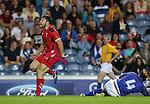 Glasgow 2014 Commonwealth Games<br /> Luke Treharne<br /> Wales v Samoa<br /> Ibrox Stadium<br /> <br /> 26.07.14<br /> ©Steve Pope-SPORTINGWALES