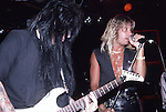 Mick MArs & Vince Neil of Motley Crue at the Roxy in Hollywood Aug 1986