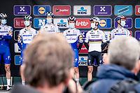 World Champion Julian Alaphilippe (FRA/Deceuninck-QuickStep)<br />  at the race start in Leuven <br /> <br /> 60th De Brabantse Pijl 2020 - La Flèche Brabançonne (1.Pro)<br /> 1 day race from Leuven to Overijse (BEL/197km)<br /> <br /> ©kramon