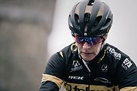 Ellen Van Loy (BEL/Telenet Fidea Lions) pre-race<br /> <br /> Women's race<br /> UCI CX World Cup Namur / Belgium 2017