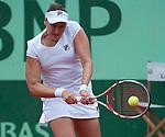Nadia Petrova (RUS) loses at Roland Garros in Paris, France on June 1, 2012