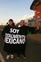 Fans of Mexico outside the stadium before the game against France .