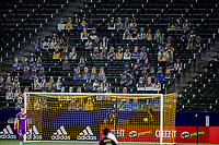 CARSON, CA - SEPTEMBER 06: Los Angeles Galaxy fans during a game between Los Angeles FC and Los Angeles Galaxy at Dignity Health Sports Park on September 06, 2020 in Carson, California.