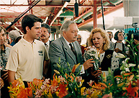 Andre Boisclair, jacques Parizeau and his wife, October 1994 photo by Pierre Roussel / Images Distribution