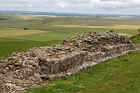 Northumberland, England, UK.  Hadrian's Wall near Milecastle 35.