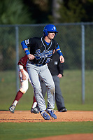Indiana State Sycamores shortstop Clay Dungan (6) during a game against the Boston College Eagles on February 27, 2016 at North Charlotte Regional Park in Port Charlotte, Florida.  Boston College defeated Indiana State 5-3.  (Mike Janes/Four Seam Images)