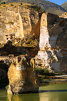 Ruins of the Ayyubids Small Palace in the citadel of ancient Hasankeyf overlooking the Tigris River. Turkey 12