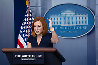 White House Press Secretary Jen Psaki holds a news briefing at the White House in Washington, DC, October 13, 2021. Credit: Chris Kleponis / Pool via CNP /MediaPunch