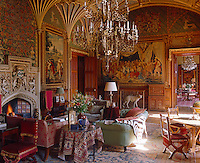 This fan-vaulted late-Georgian drawing room was created by Sir Robert Smirke and later decorated to Pugin's designs