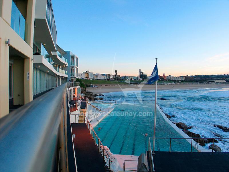 A day at the Bondi Icebergs swimming club, Bondi Beach, Sydney in Australia.