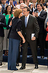 Maria Dolores de Cospedal and Mariano Rajoy during the presentation of candidates to the Congress of Deputies in Madrid. May 24, 2016. (ALTERPHOTOS/Borja B.Hojas)