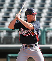 16 March 2009: Brooks Conrad of the Atlanta Braves at the Braves' Spring Training camp at Disney's Wide World of Sports in Lake Buena Vista, Fla. Photo by:  Tom Priddy/Four Seam Images