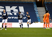21st November 2020; The Den, Bermondsey, London, England; English Championship Football, Millwall Football Club versus Cardiff City; Matt Smith of Millwall celebrates after scoring his sides 1st goal in the 35th minute to make it 1-0